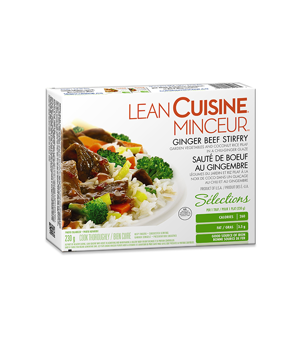 LEAN CUISINE Ginger Beef Stirfry, 230 grams.