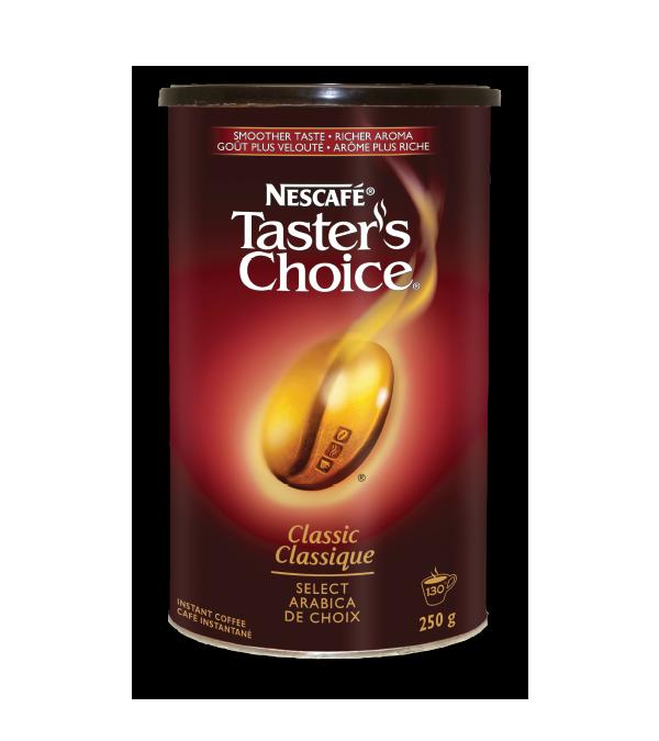 Café instantané classique NESCAFÉ Taster's Choice, 250 grammes.