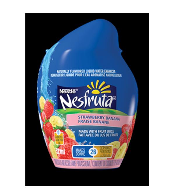 NESFRUTA Strawberry Banana, Naturally Falvoured Liquid Water Enhancer. 52ml makes 26 servings.
