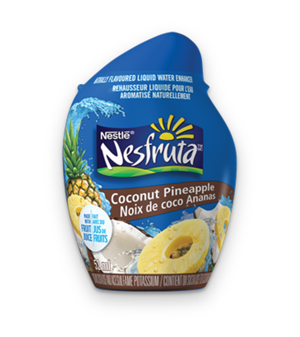 NESFRUTA Coconut Pineapple, Naturally Falvoured Liquid Water Enhancer, 52ml makes 26 servings.