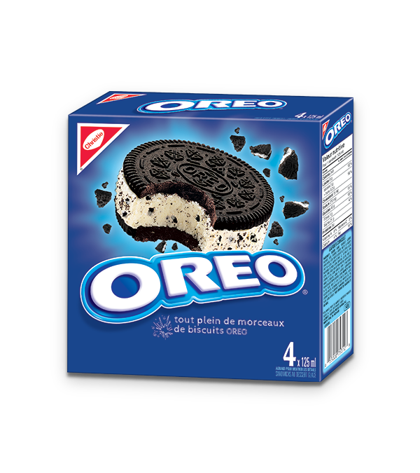 Sandwich au dessert glacé OREO, emballage multiple, 4 x 125 ml.