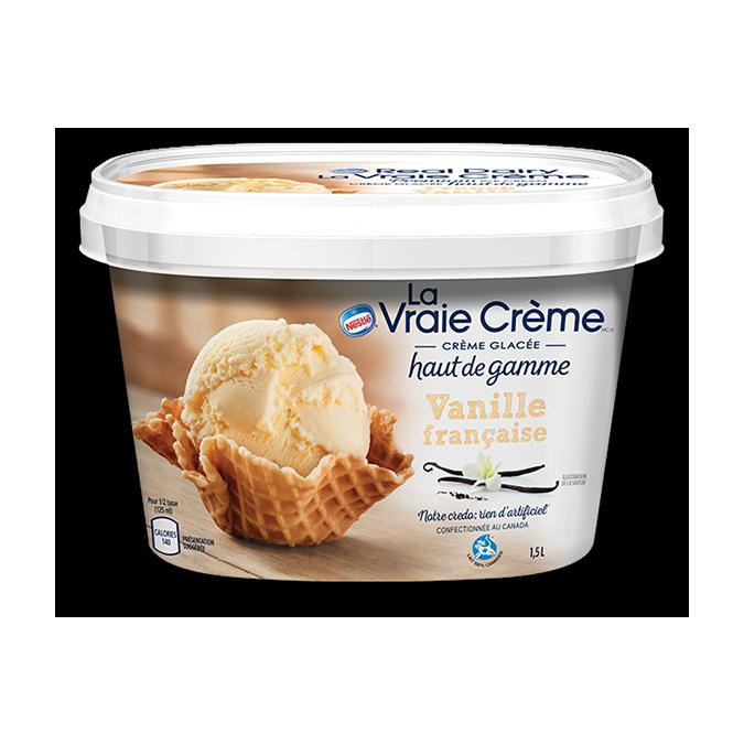 REAL DAIRY Crème glacée à la vanille française, 1,5 litre.