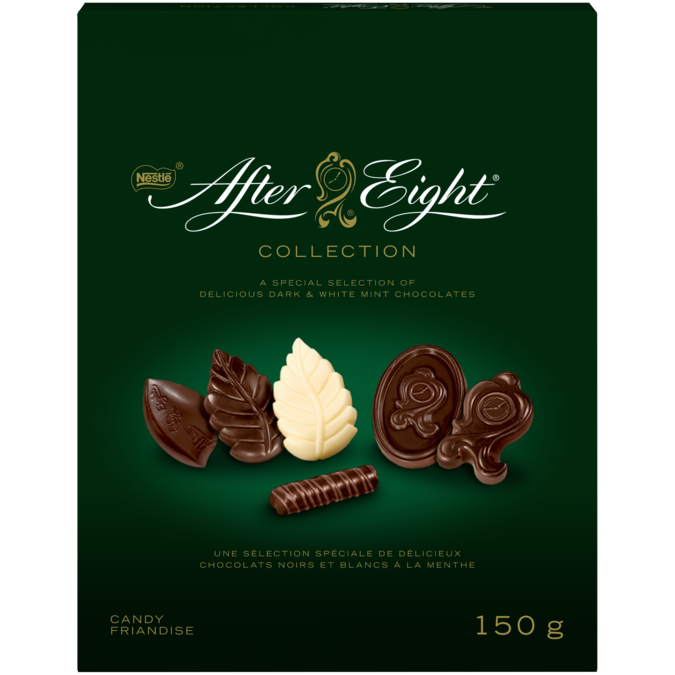 Collection de chocolats AFTER EIGHT, 150 grammes.