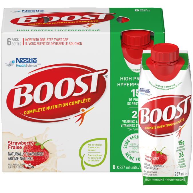 BOOST High Protein - Strawberry, 6 x 237 ml