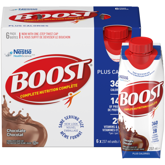 BOOST Plus Calories - Chocolate, 6 x 237 ml