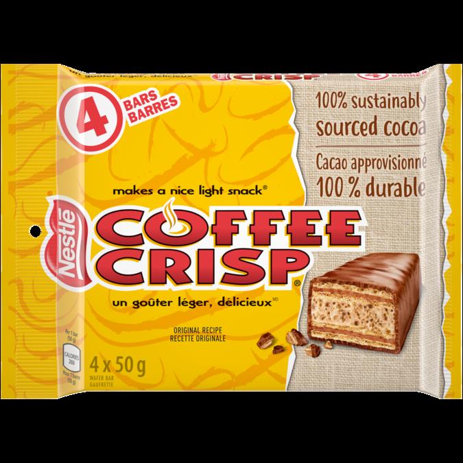 COFFEE CRISP chocolate bar, mulipack, 4 x 50 grams.