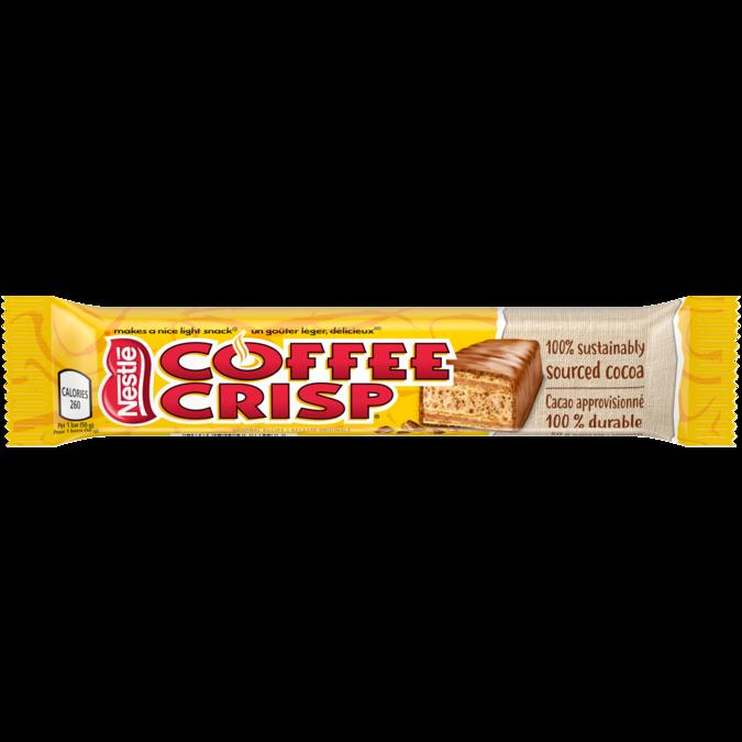 COFFEE CRISP Chocolate Bar, 50 grams.