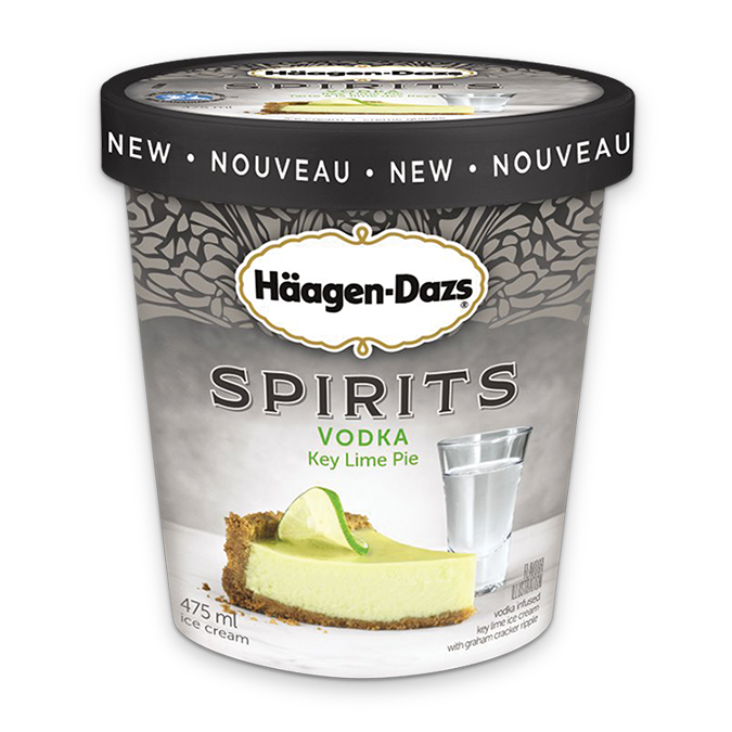 Crème glacée HÄAGEN-DAZS Vodka Key Lime Pie, 475 ml.