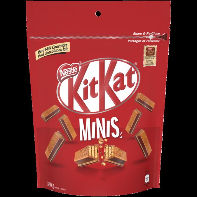 KIT KAT Chocolate Minis, Resealable Bag, 380 grams.