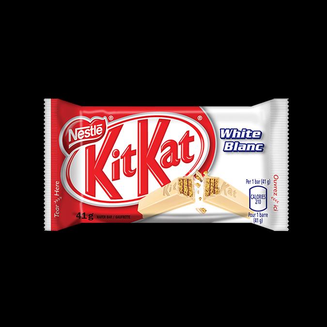 KIT KAT White Chocolate, 41 grams.