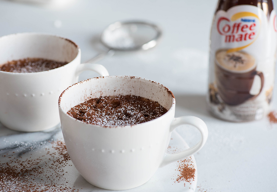 G teau fudge moka dans une tasse - Gateau dans une tasse ...