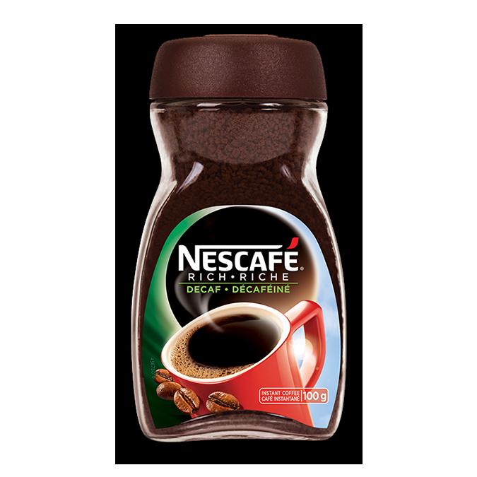 Café instantané NESCAFÉ Rich Decaf, 100 grammes.