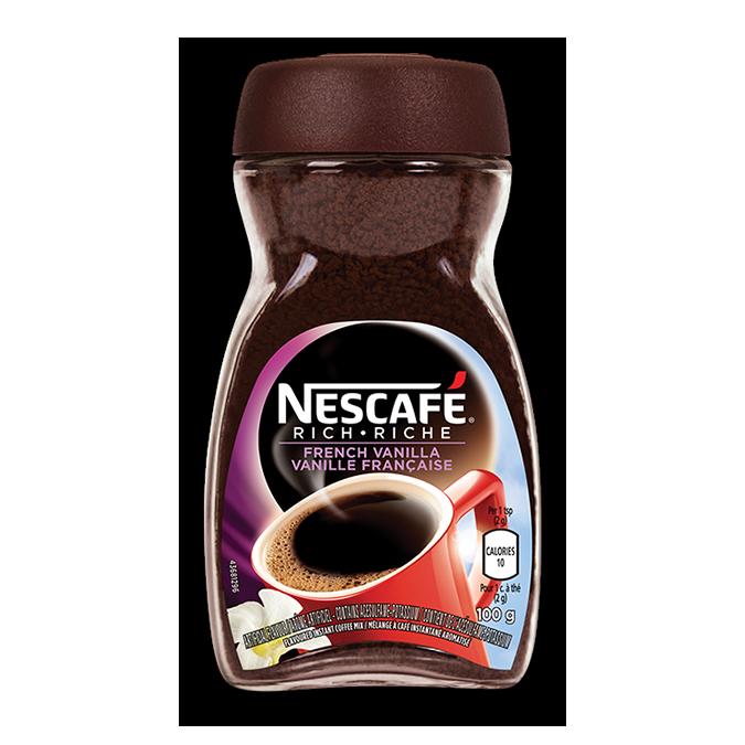 NESCAFÉ Café riche à la vanille française, 150 grammes.