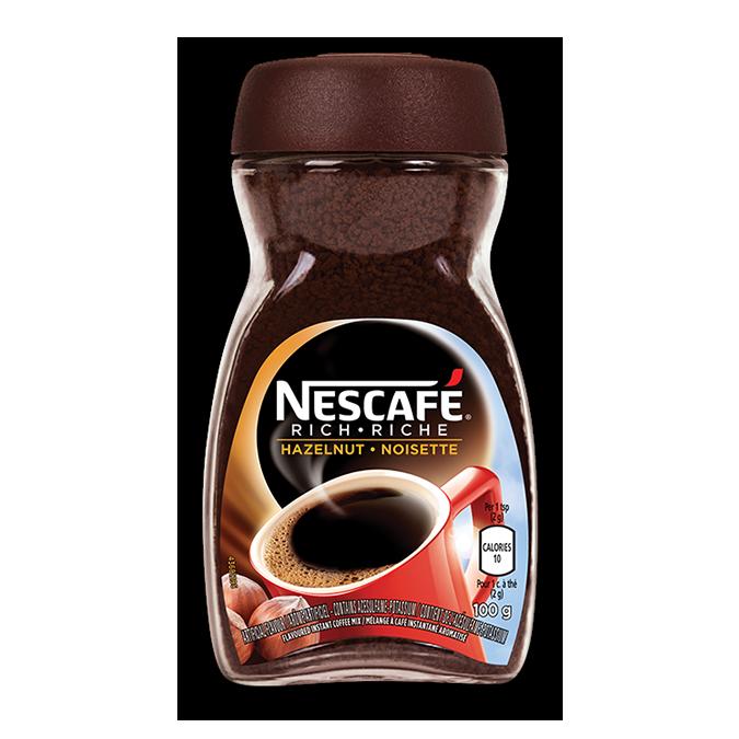 NESCAFE Café riche aux noisettes, 150 grammes.