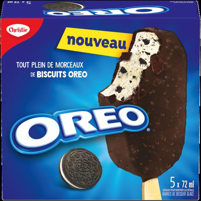 Barres de dessert glacé CHRISTIE OREO, 5 x 72 ml