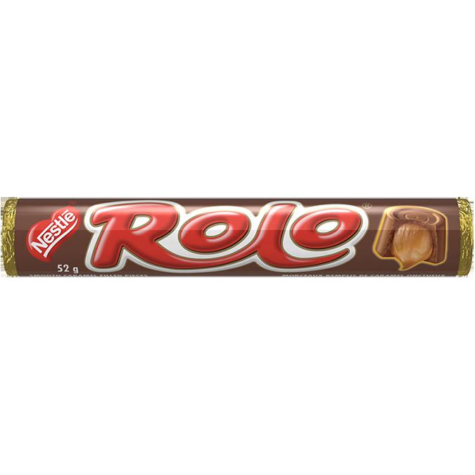 ROLO, morceaux de chocolat lisse et caramel, 52 grammes.