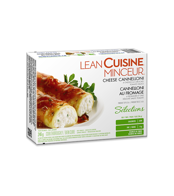 Cannellonis au fromage LEAN CUISINE, 246 grammes.
