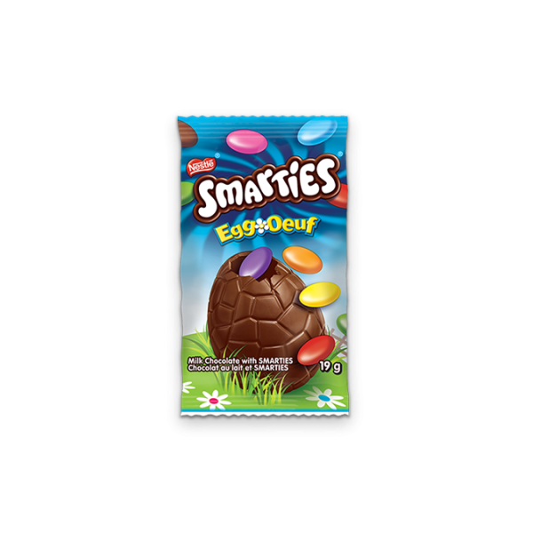 SMARTIES Chocolate Easter Egg, 19 grams.
