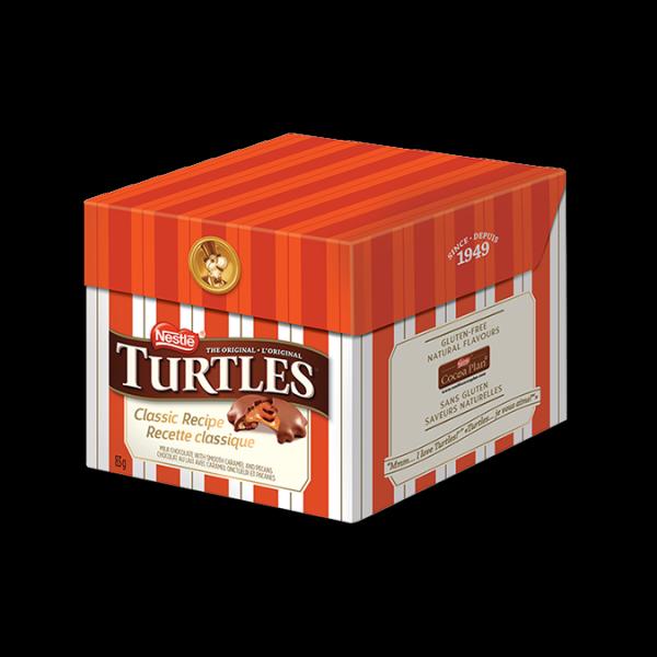 Chocolat TURTLES, recette classique 85 grammes.
