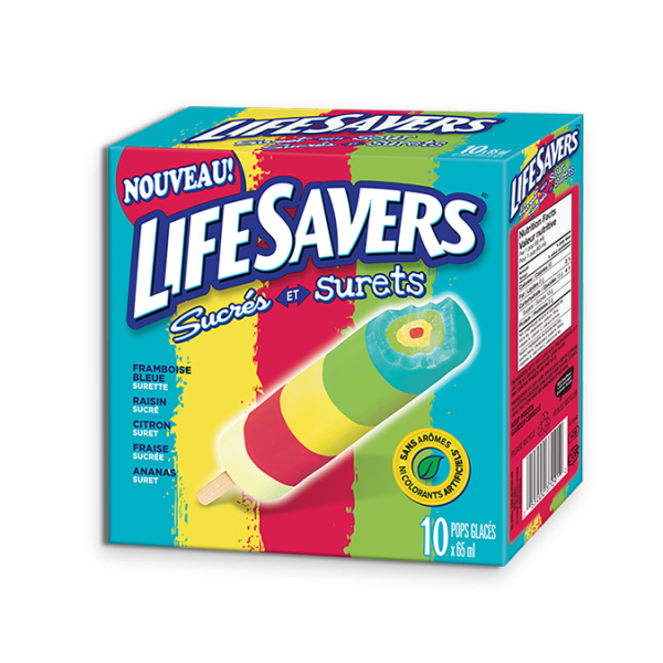 LIFESAVERS Sweet Meets Sour Pops, portions de 10 x 65 ml.