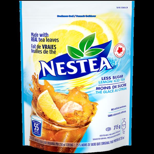 NESTEA Lemon Iced Tea Powder Mix, less sugar 715 grams