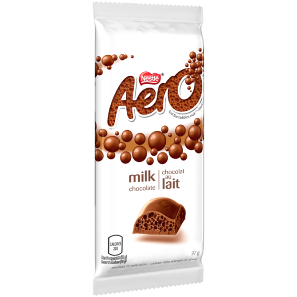 AERO Milk Chocolate Bar, 97 grams.