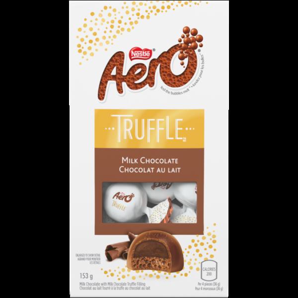 Sachet Boutique de Chocolat au Lait AERO TRUFFLE, 153 grammes.