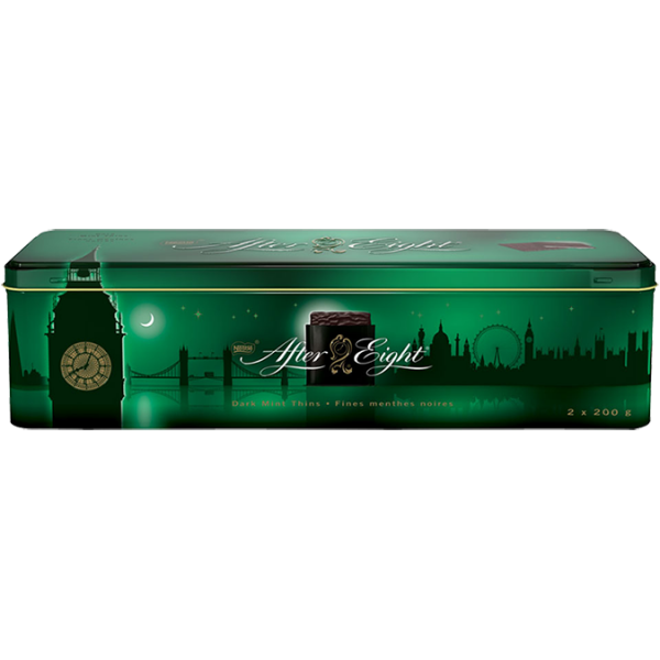 AFTER EIGHT Chocolates, London Skyline Tin, 400 grams.