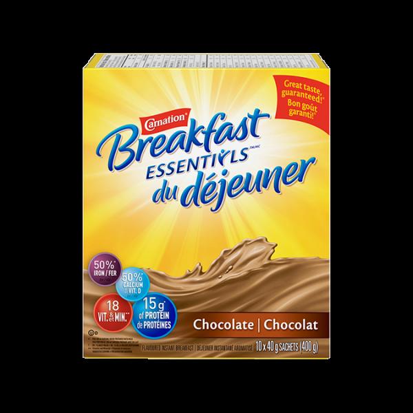 Mélange pour boisson au chocolat en poudre Carnation Breakfast Essentials, 400 grammes.