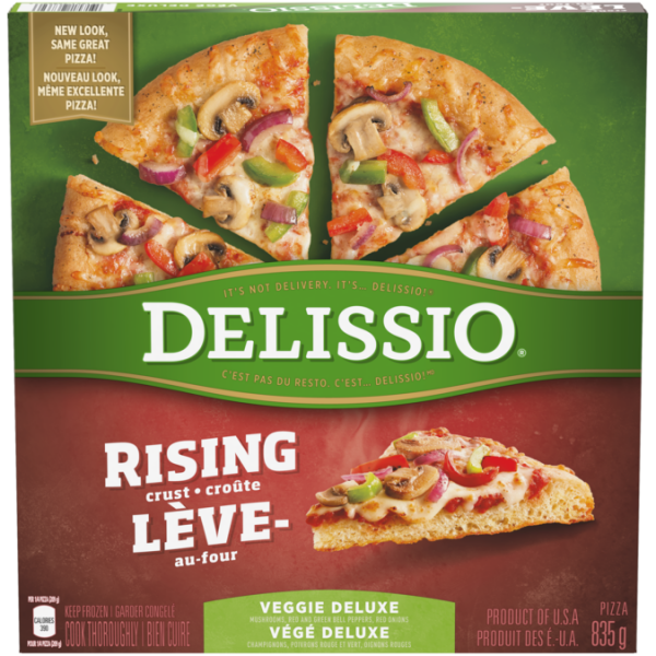 DELISSIO Rising Crust Deluxe Pizza, 835 grammes.