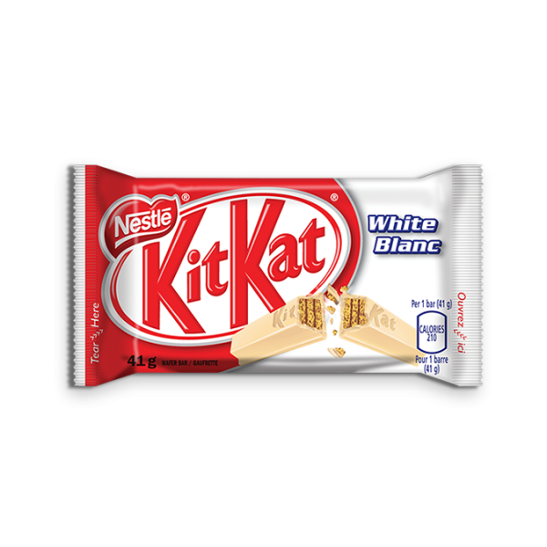KIT KAT White Chocolate, 41 grams.