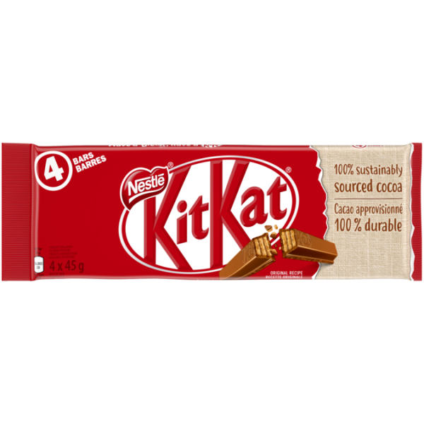 KIT KAT Chocolate Bar 4 x 45 grams