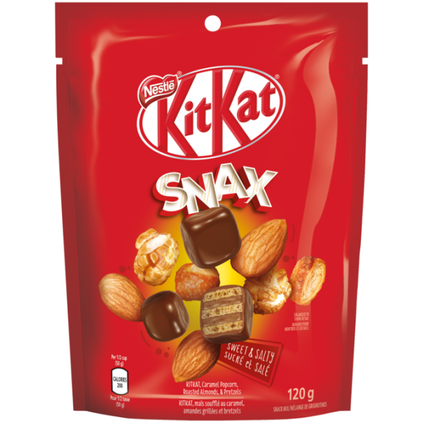 KIT KAT Snax Chocolate Bar, 120 grams.