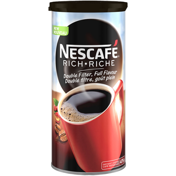 NESCAFE Rich Instant Coffee, 475 grams.