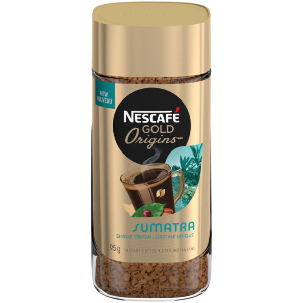 NESCAFE GOLD ORIGINS Sumatra Instant Coffee, 95 grams.