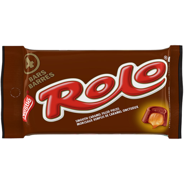ROLO, 4 x 52 g. Four delicious rolls of chocolate filled with smooth caramel.