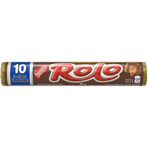 ROLO Jumbo, 10 Smooth chocolate and caramel pieces to share, 90 grams.