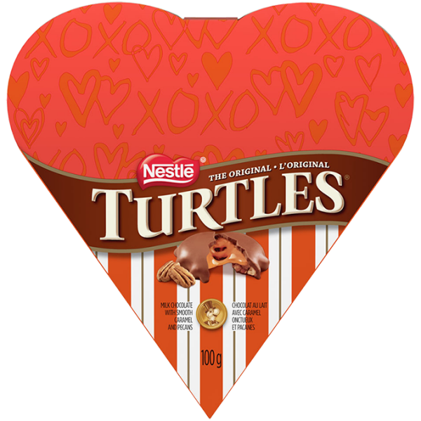 Coffret cadeau TURTLES Classic Recipe Valentine's Heart, 100 grammes.