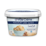 LA VRAIE CRÈME Yogourt grec glacé  Caramel salé