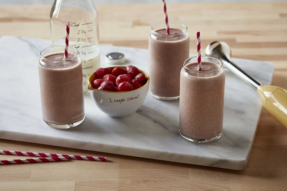 Choco Berry Frosty Recipe. A blend of real berries and frozen yogurt.
