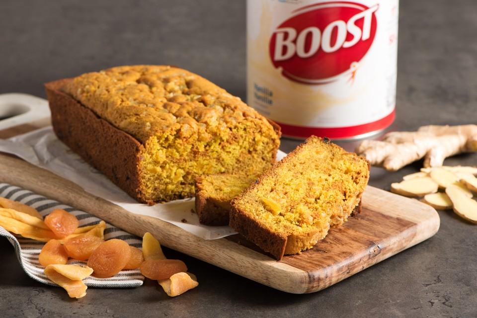 Recette de pain au gingembre et au curcuma. Un pain rapide garni de gingembre confit que vous pourrez déguster sur le pouce.