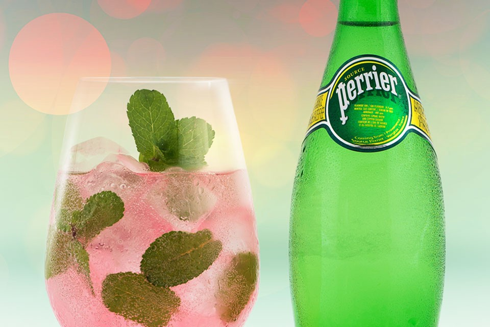 PERRIER Down the Riviera Recipe. A refreshing watermelon vodka summer drink.
