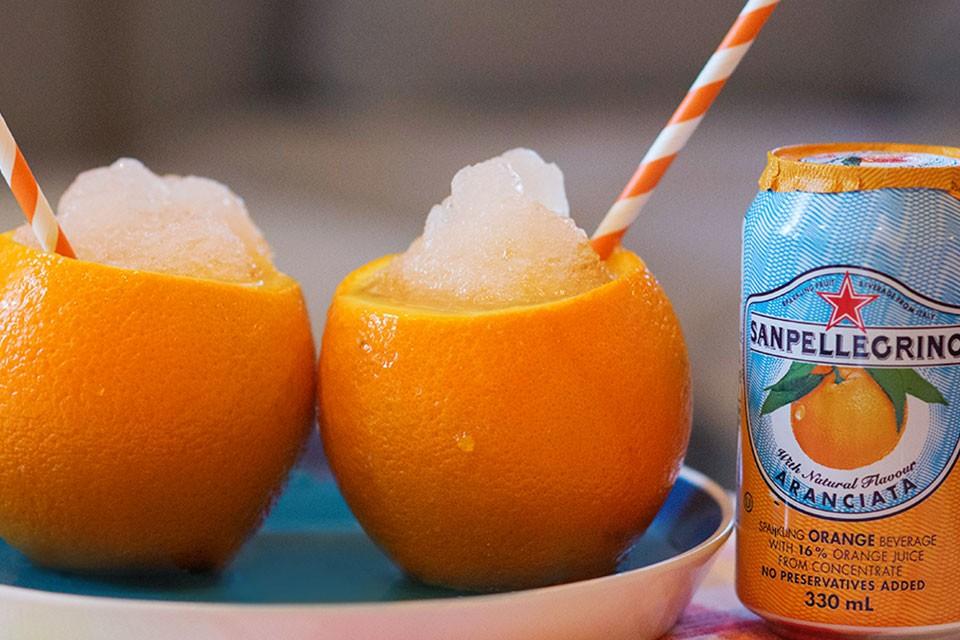 Frosty, refreshing and delicious Orange Granita recipe.
