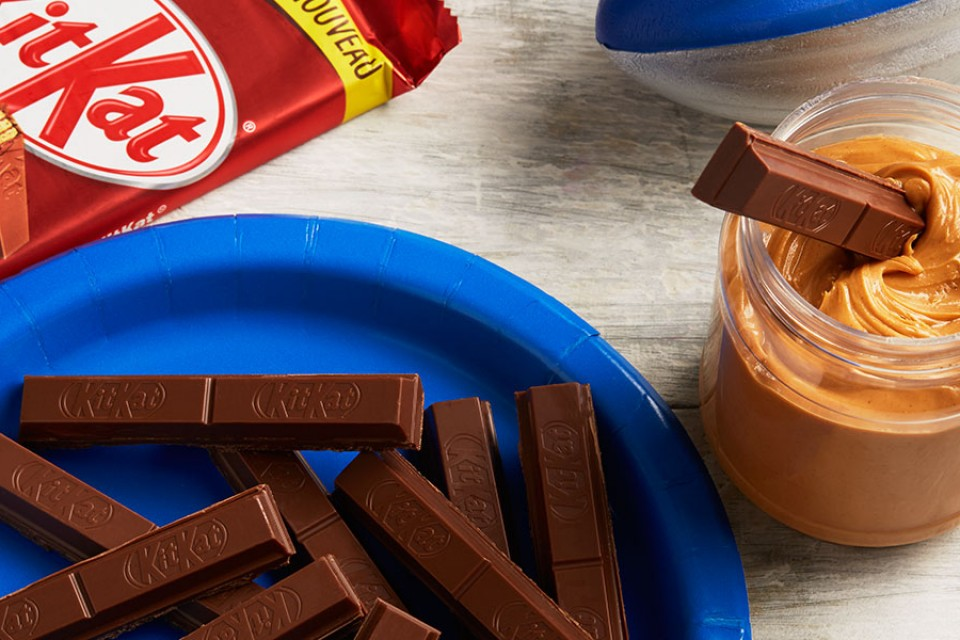 KIT KAT Cowboy Crudité. Dip your KIT KAT Chocolate in peanut butter.