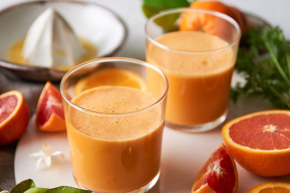 Hidden Veggie Orange Smoothie with CARNATION BREAKFAST ESSENTIALS Powder Drink Mix Recipe