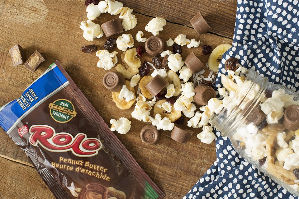 ROLO® Peanut Butter Lovers Trail Mix recipe. Sweet and salty with chocolate pieces.