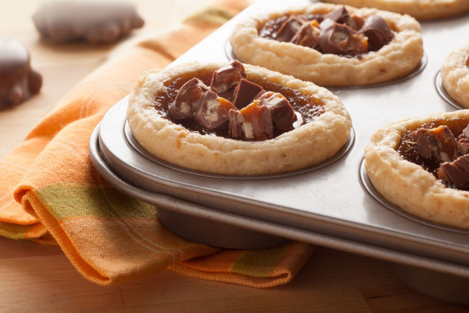 TURTLES Butter Tarts recipe. A buttery, chocolate delight.