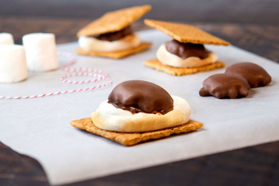 TURTLES S'mores recipe. Made with delicious TURTLES, Graham crackers and marshmallows!