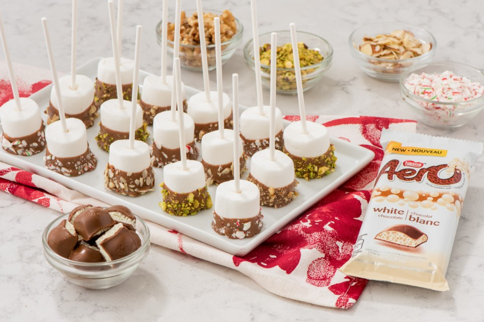 AERO White Chocolate Marshmallow Pops recipe